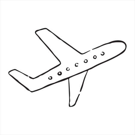 Airplane doodle icon. Vector illustration Фото со стока - 108437059