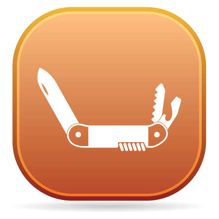 Camping knife icon. Vector illustration Banque d'images - 109722781