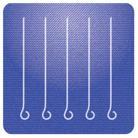Skewers set icon. Vector illustration