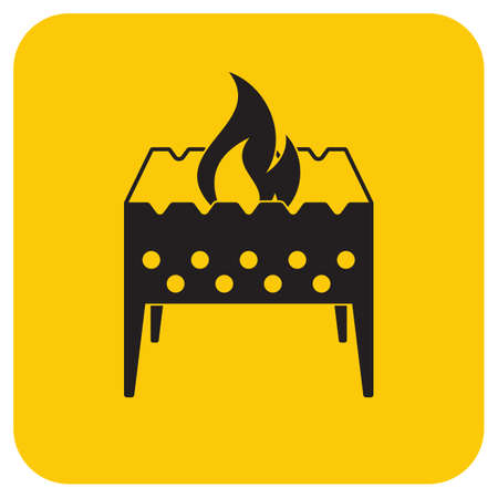 Camping brazier icon. Vector illustration 向量圖像
