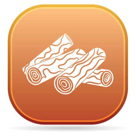 Firewood for bonfire icon. Vector illustration Illustration
