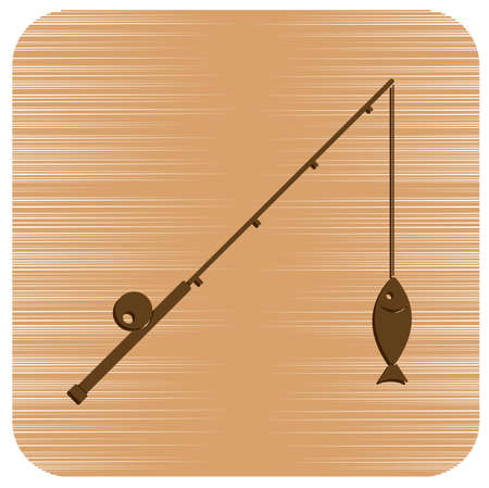 Fishing rod icon. Vector illustration