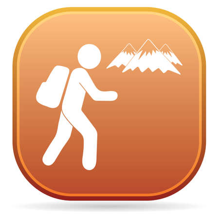 Hiking icon illustration isolated vector sign symbol 向量圖像