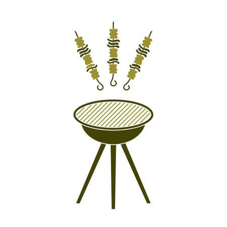 Grilled kebab icon. Vector illustration Ilustração
