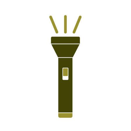 Flashlight icon. Portable torch vector isolated illustration Ilustração