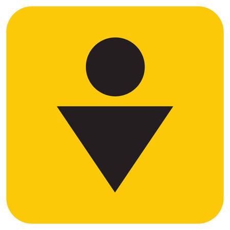 Man Toilet icon. Vector illustration Ilustração