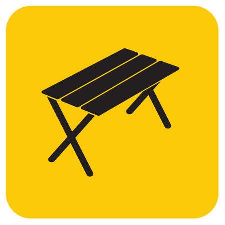 Camping table icon. Vector illustration Ilustração