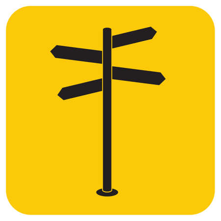 Road Sign icon vector illustration