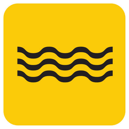 Water waves icon. Vector illustration