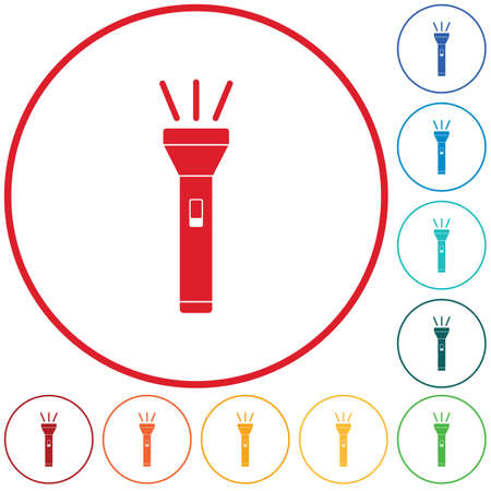 Flashlight icon. Portable torch isolated illustration