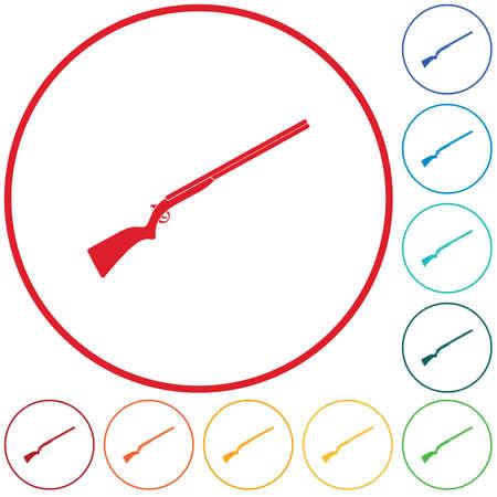 Hunting shot gun icon. Vector illustration