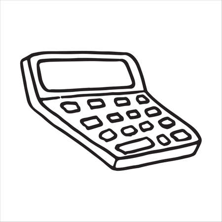 Doodle icon calculator, calculating machine