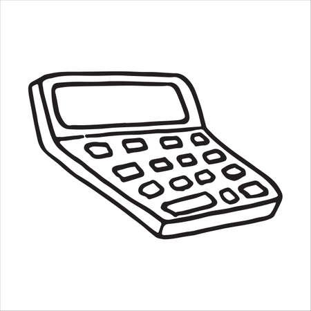 Doodle icon calculator, calculating machine