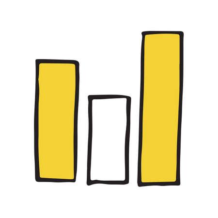 Icône de doodle de main Drawndiagram. Illustration vectorielle Vecteurs