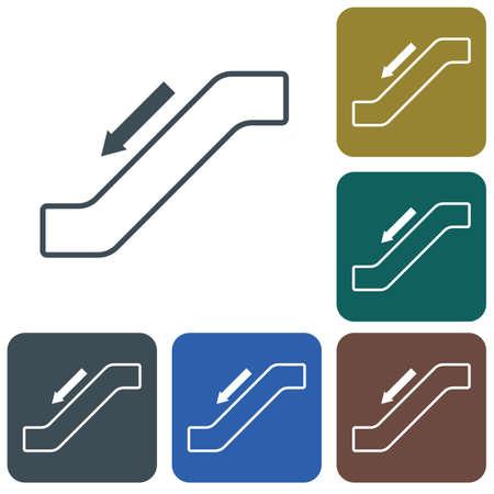 Escalator staircase icon.Vector illustration
