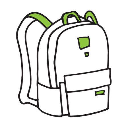 School or camping backpack, doodle art