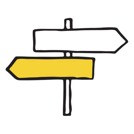Road sign hand drawn outline doodle icon. Vector illustration
