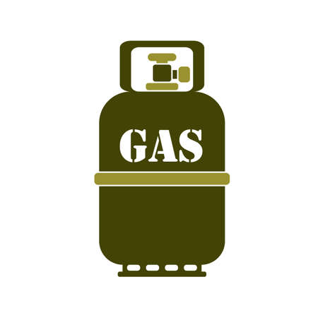 Camping gas bottle icon. Flat icon isolated. Vector illustration Ilustração