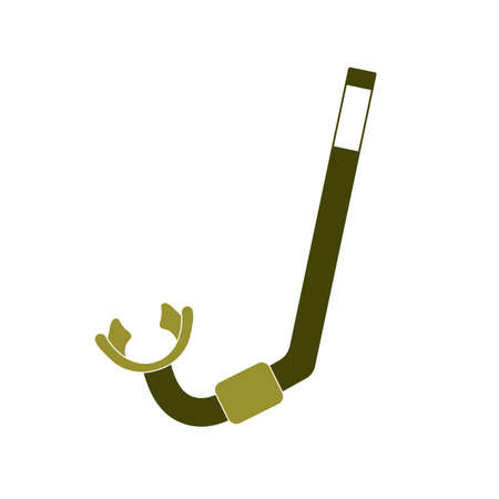 Diving Snorkel Icon. Tube for diving vector illustration isolated Vectores