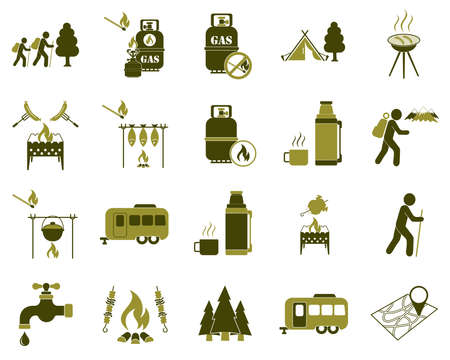 Set of tourism services icons. Vector illustration