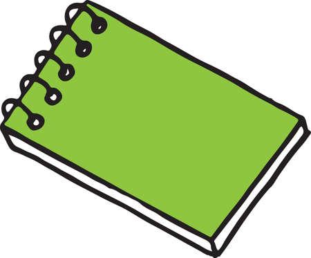 Cahier, bloc-notes. Doodle, style de croquis de gravure. Illustration dessinée à la main