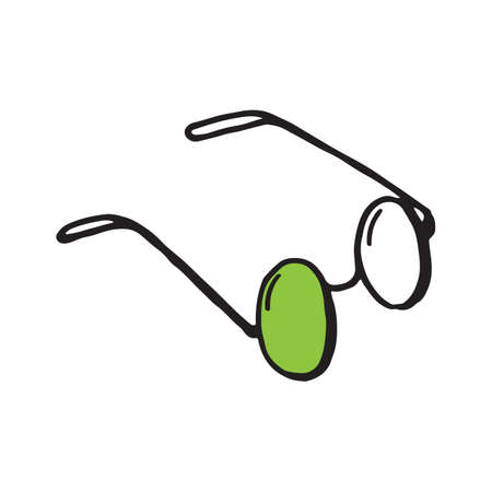 Glasses sunglasses vector hand drawn illustration Ilustração