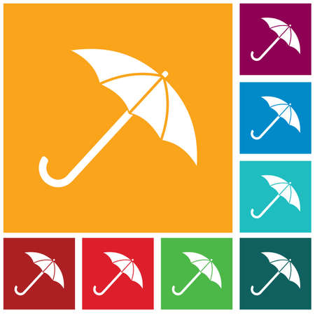 Umbrella sketch icon for web, mobile and infographics Çizim