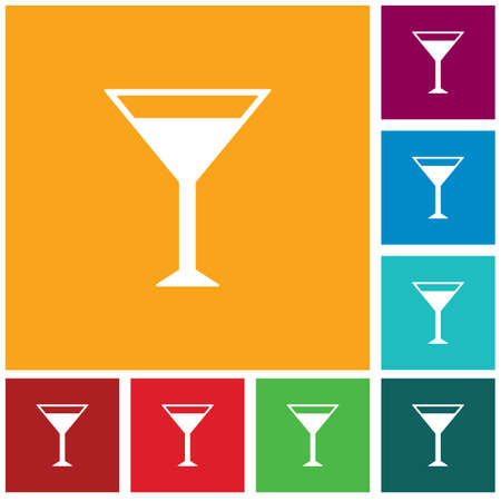 Cocktail glass sign with martini vodka icon. Vector illustration 矢量图像