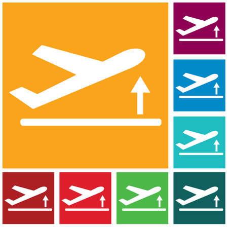 Departure take off plane icon simple flat vector illustration