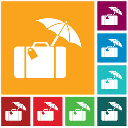 Suitcase travel isolated icon vector illustration design Ilustrace