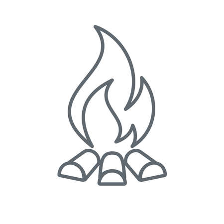 Campfire silhouette icon. Vector illustration