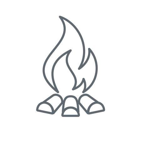 Campfire silhouette icon. Vector illustration