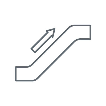 Escalator staircase icon.Vector illustration