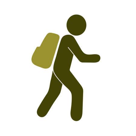 Senderismo icono ilustración aislada vector señal símbolo
