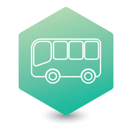 Bus icon vector filled flat sign