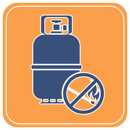 Camping gas bottle icon. Flat icon isolated. Vector illustration Ilustração