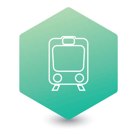 Train icon isolated. High speed train. Metro train symbol. Vector illustration