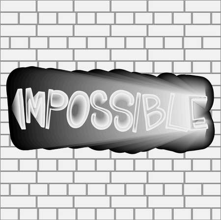 Impossible shirt quote lettering vector image Çizim