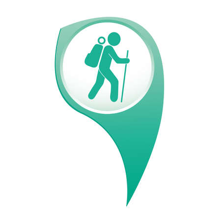 Hiking icon illustration isolated vector sign symbol Çizim