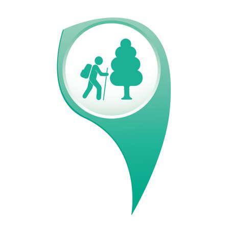 Hiking icon illustration isolated vector sign symbol 일러스트