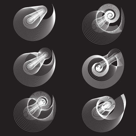 Abstract templates with curvy lines. Spiral blended simple background