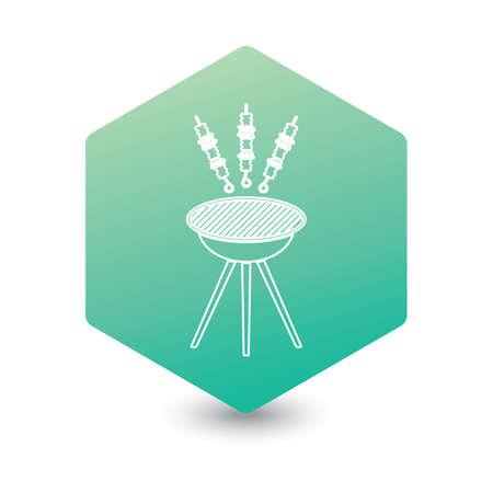 Grilled kebab icon. Vector illustration Stock Illustratie