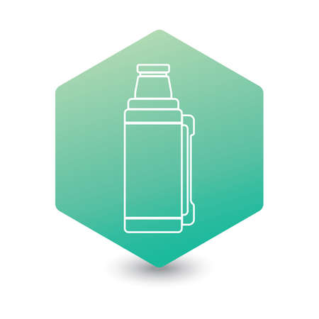 Thermo container icon, camping and hiking equipment. Vector illustration