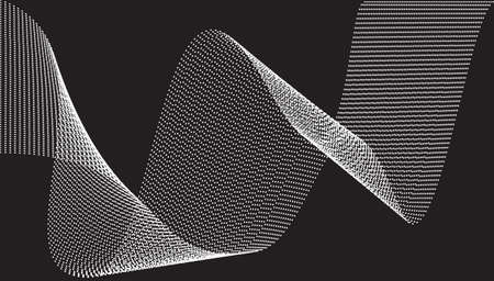 Abstract templates with curvy lines. Wavy blended simple dotted background