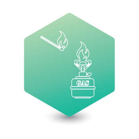 Camping stove icon vector. Vector illustration.   Stock Illustratie