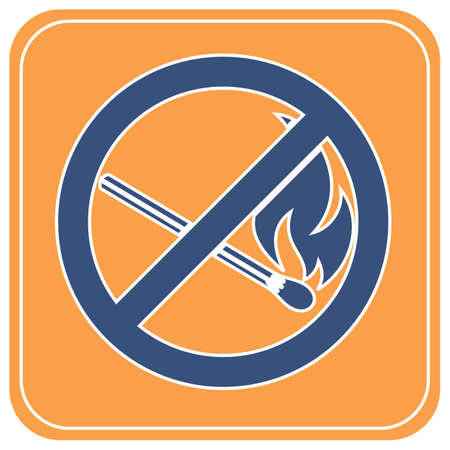 No Fire sign. Prohibition open flame symbol. Vector illustration