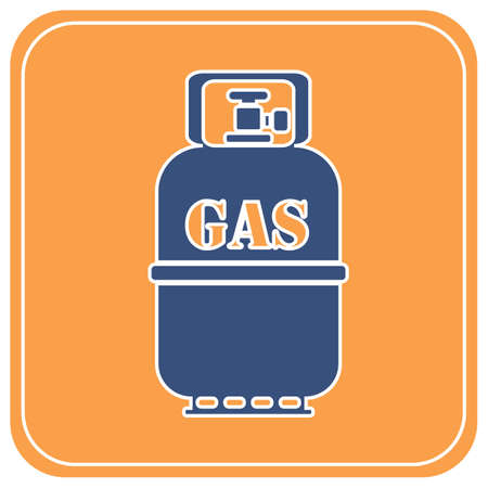 Camping gas bottle icon. Flat icon isolated. Vector illustration