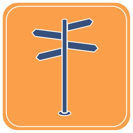 Road Sign icon vector illustration  Stock Illustratie