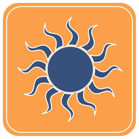 Sun stylized image icon. Vector illustration   Ilustrace