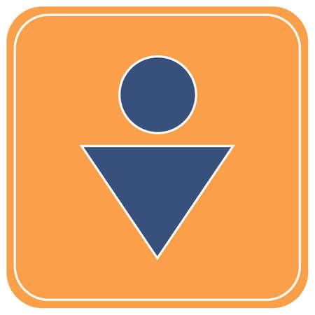 Man Toilet icon. Vector illustration Ilustrace